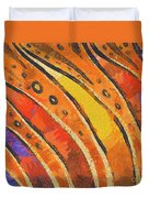 Abstract Rainbow Tiger Stripes Duvet Cover by Pixel Chimp