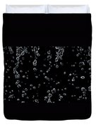 Abstract Raindrops Black And White Duvet Cover