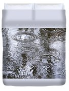 Abstract Raindrops Duvet Cover