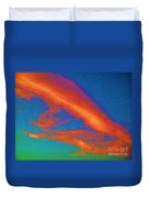 Abstract Red Blue And Green Sky Duvet Cover