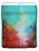 Abstract Red Blue Digital Print Duvet Cover