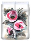 Abstract Red Poppies Duvet Cover
