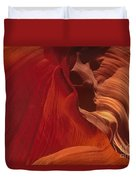 Abstract Red Sandstone Formations Lower Antelope Slot Duvet Cover