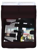 Abstract Reflection 18 Duvet Cover by Sarah Loft