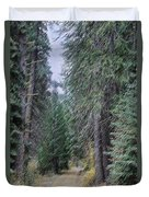 Abstract Road In The Wilderness Duvet Cover