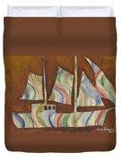 Abstract Sailboat Duvet Cover