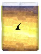 Abstract Seagull Flight Duvet Cover