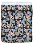 Abstract Shapes Collage Duvet Cover