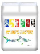 Abstract Shark Duvet Cover
