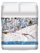 Abstract Snow Storm Duvet Cover