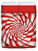 Abstract - Spirals - The Power Of Mint Duvet Cover by Mike Savad