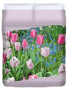Abstract Spring Floral Fine Art Prints Duvet Cover