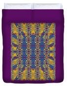 Abstract Sun Rays And Rings Duvet Cover