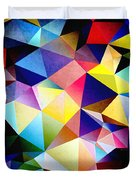 Abstract Triangles And Texture Duvet Cover