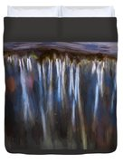 Abstract Waterfalls Childs National Park Painted  Duvet Cover