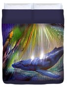 Abstract Whale Duvet Cover