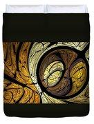 Abstract Wood Grain Duvet Cover