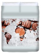 Abstract World Map - Chocolates - Confections - Candy Shop Duvet Cover