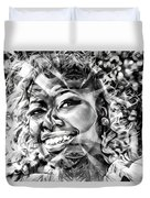 Abstracted Lady Duvet Cover