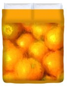 Abstracted Oranges Duvet Cover