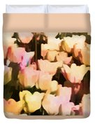 Abstracted Tulips Duvet Cover