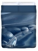 Abstraction In Blue Duvet Cover