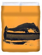 Abstracto Black Yellow Duvet Cover