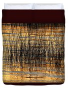 Abstract Reed And Water Patterns Duvet Cover
