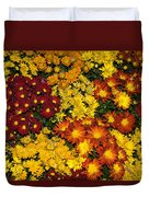 Abundance Of Yellows Reds And Oranges Duvet Cover