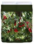 Abundant Cherries Duvet Cover