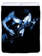 Ac Dc #35 In Blue Duvet Cover by Ben Upham