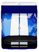 Ac Shelby Cobra Grille - Hood Emblem Duvet Cover