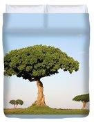 Acacia Trees Masai Mara Kenya Duvet Cover