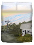 Acadian Home On The Bayou Duvet Cover