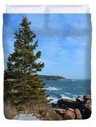 Acadian Shores In Winter Duvet Cover