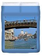 Accademia Bridge In Venice Italy Duvet Cover