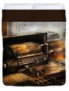 Accountant - The Adding Machine Duvet Cover