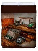 Accountant - Typewriter - The Accountants Office Duvet Cover