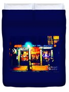 Acme Oyster Shop New Orleans Duvet Cover