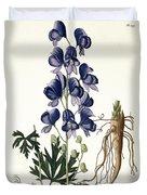 Aconitum Napellus Duvet Cover by LFJ Hoquart
