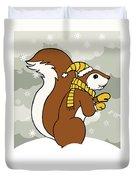 Acorn Winter Duvet Cover