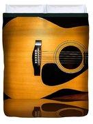 Acoustic Guitar Reflected Duvet Cover