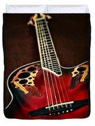 Acoustical Red Duvet Cover