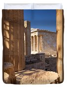 Acropolis Temple Duvet Cover by Brian Jannsen