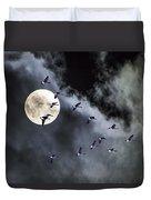 Across A Harvest Moon Duvet Cover