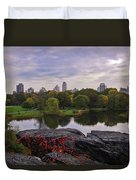 Across The Pond 2 - Central Park - Nyc Duvet Cover