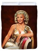 Actress Carole Landis Duvet Cover