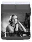 Actress Greta Garbo Duvet Cover