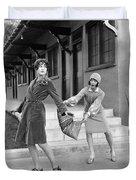 Actresses On Roller Skates Duvet Cover