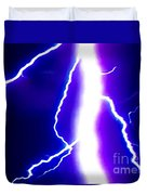 Actual Lightning In Zoom Image Duvet Cover